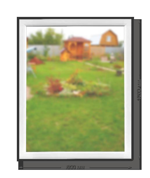 Дачное окно «Novotex» глухое 600x1200 мм