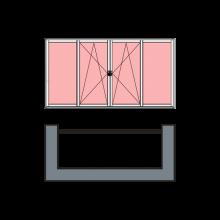 4-створчатое остекление «теплое»